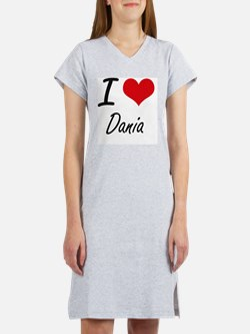 I Love Dania artistic design Women's Nightshirt