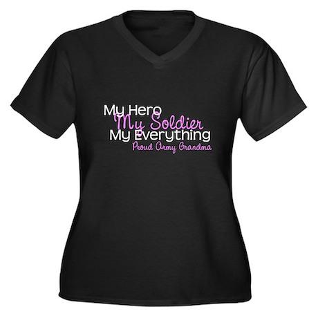 My Everything Army Grandma Women's Plus Size V-Nec