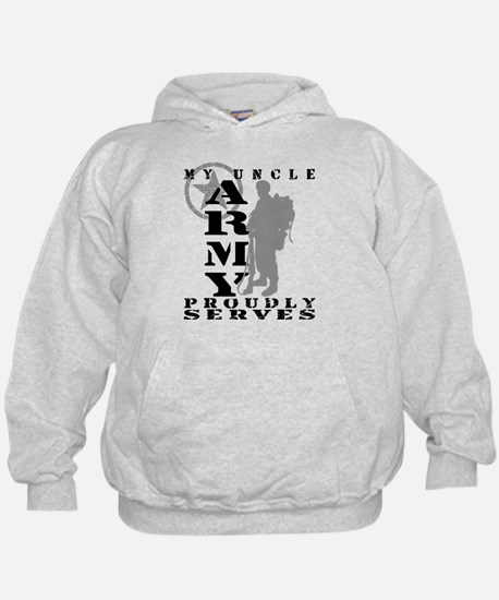 Uncle Proudly Serves 2 - ARMY  Hoodie
