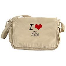 I Love Elsa artistic design Messenger Bag