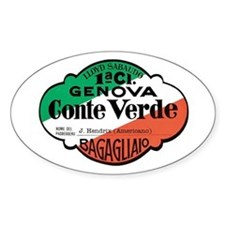 Conte Verde Luggage Label Decal