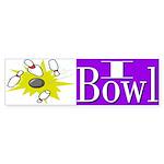 I Bowl Bumper Sticker