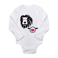 Lion And Lamb Long Sleeve Infant Body Suit
