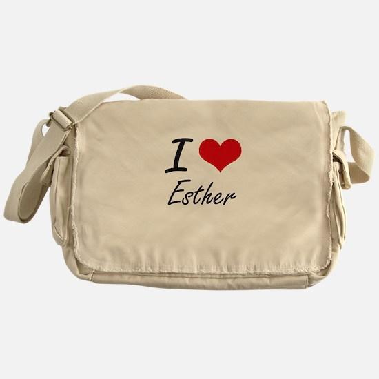 I Love Esther artistic design Messenger Bag