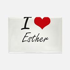 I Love Esther artistic design Magnets