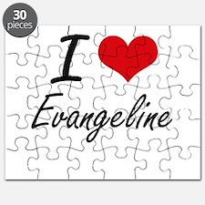 I Love Evangeline artistic design Puzzle