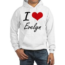 I Love Evelyn artistic design Hoodie