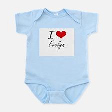 I Love Evelyn artistic design Body Suit