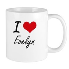 I Love Evelyn artistic design Mugs