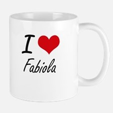 I Love Fabiola artistic design Mugs