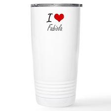 I Love Fabiola artistic Travel Mug