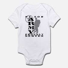 Son Proudly Serves 2 - ARMY Infant Bodysuit