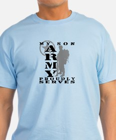 Son Proudly Serves 2 - ARMY T-Shirt