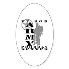 Son Proudly Serves 2 - ARMY Oval Decal