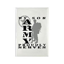 Son Proudly Serves 2 - ARMY Rectangle Magnet