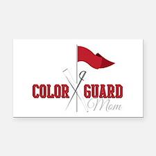 Color Guard Mom Rectangle Car Magnet