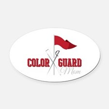 Color Guard Mom Oval Car Magnet