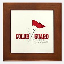 Color Guard Mom Framed Tile