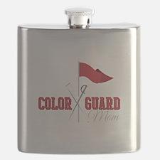 Color Guard Mom Flask