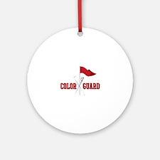 Color Guard Round Ornament