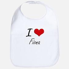 I Love Fiona artistic design Bib
