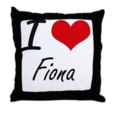 I Love Fiona artistic design Throw Pillow