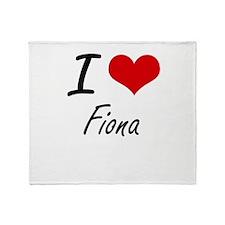 I Love Fiona artistic design Throw Blanket