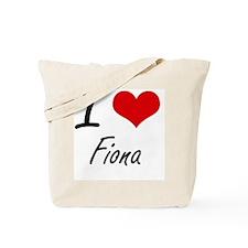 I Love Fiona artistic design Tote Bag