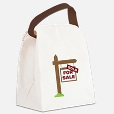 Sold Sign Canvas Lunch Bag