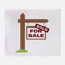 Sold Sign Throw Blanket