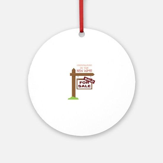 New Home Round Ornament