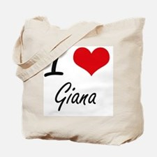I Love Giana artistic design Tote Bag
