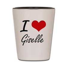 I Love Giselle artistic design Shot Glass