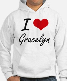 I Love Gracelyn artistic design Hoodie Sweatshirt