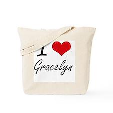 I Love Gracelyn artistic design Tote Bag