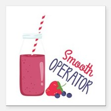 """Smooth Operator Square Car Magnet 3"""" x 3"""""""