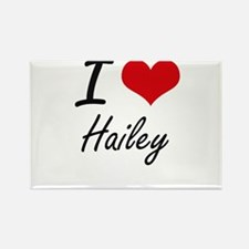 I Love Hailey artistic design Magnets