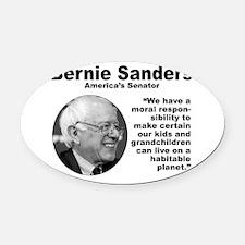 Sanders: Environ Oval Car Magnet