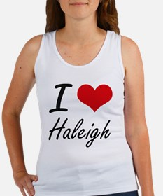 I Love Haleigh artistic desig Tank Top