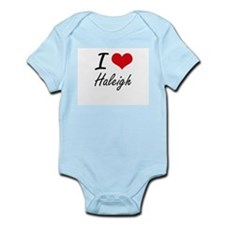 I Love Haleigh artistic design Body Suit