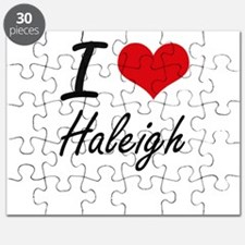 I Love Haleigh artistic design Puzzle