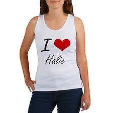 I Love Halie artistic design Tank Top