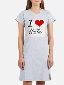 I Love Hallie artistic design Women's Nightshirt