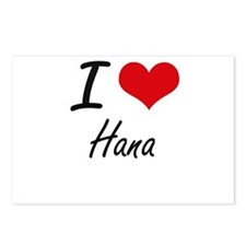 I Love Hana artistic desi Postcards (Package of 8)
