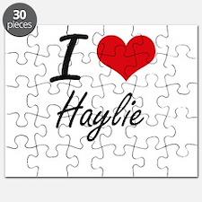 I Love Haylie artistic design Puzzle