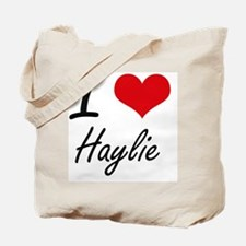 I Love Haylie artistic design Tote Bag
