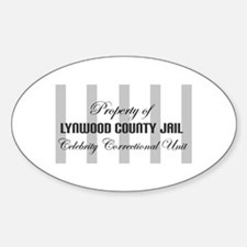 Property of Lynwood County Ja Oval Decal
