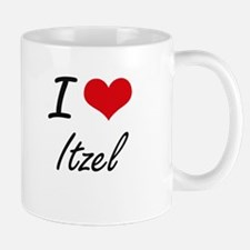 I Love Itzel artistic design Mugs