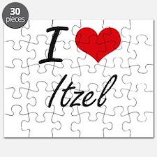 I Love Itzel artistic design Puzzle