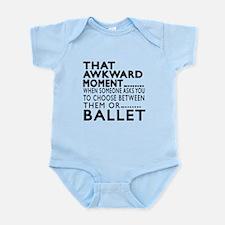 Ballet Dance Awkward Designs Infant Bodysuit